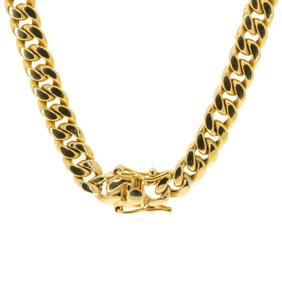 10KT Yellow Gold Miami Cuban Link Chain - Giorgio Conti Jewelers