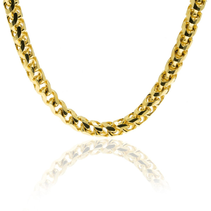 10KT Yellow Gold Solid Round Franco Chain - Giorgio Conti Jewelers