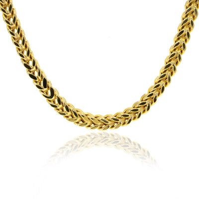 10KT Yellow Gold Square Franco Chain - Giorgio Conti Jewelers