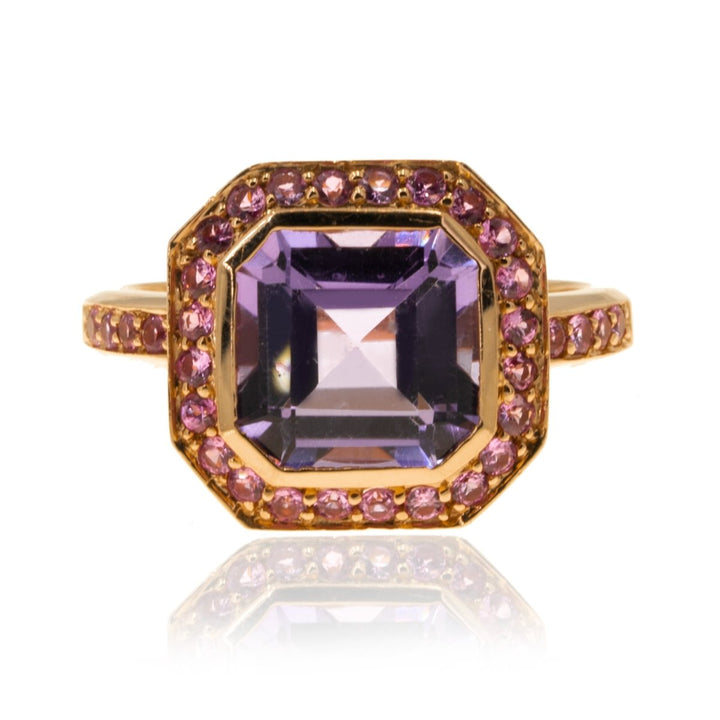 14K Rose Gold 3.84CTW Amethyst Sapphire Diamond Ring - Giorgio Conti Jewelers