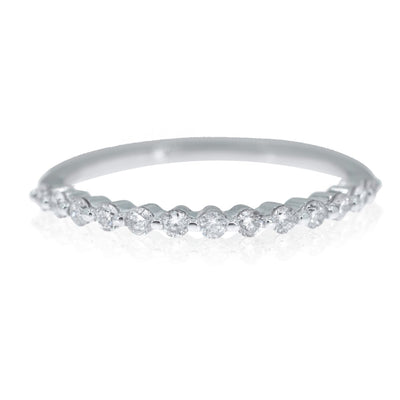 14KT White Gold 0.28CTW Arch Diamond Band - Giorgio Conti Jewelers