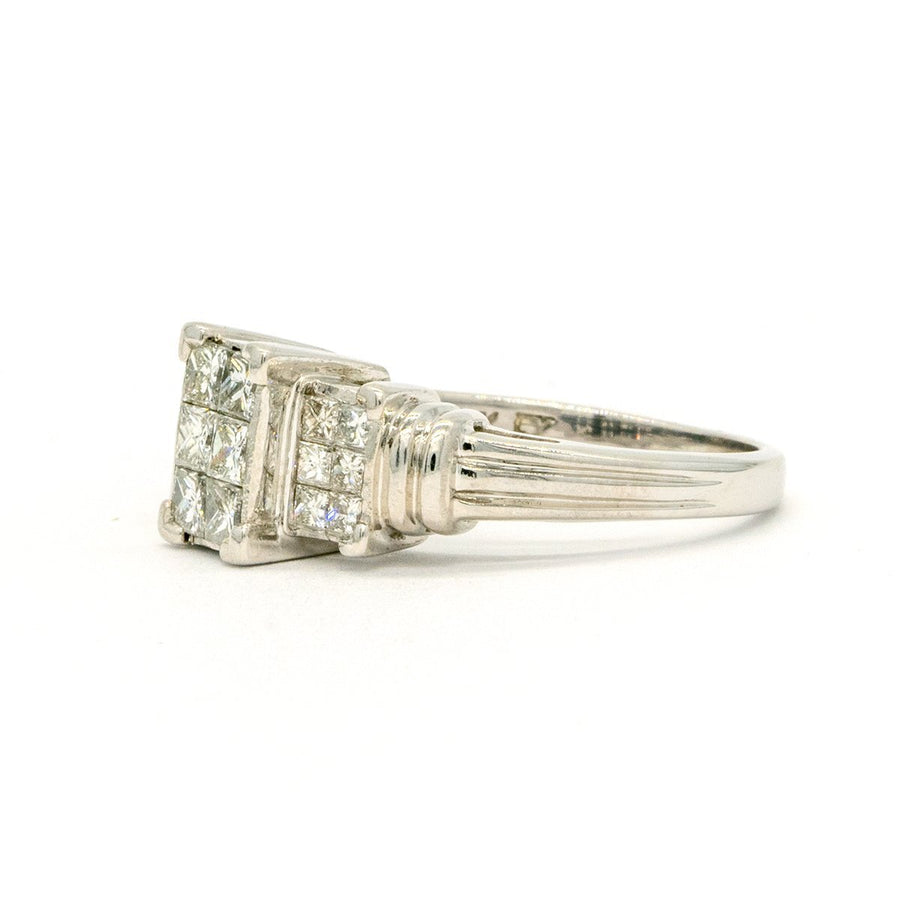 14KT White Gold 0.75CTW Natural Diamond Ring - Giorgio Conti Jewelers