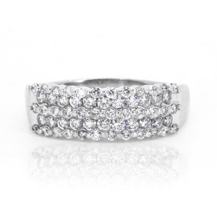 14KT White Gold 0.75ctw Round Cut Prong Set Diamond Eternity Ring - Giorgio Conti Jewelers