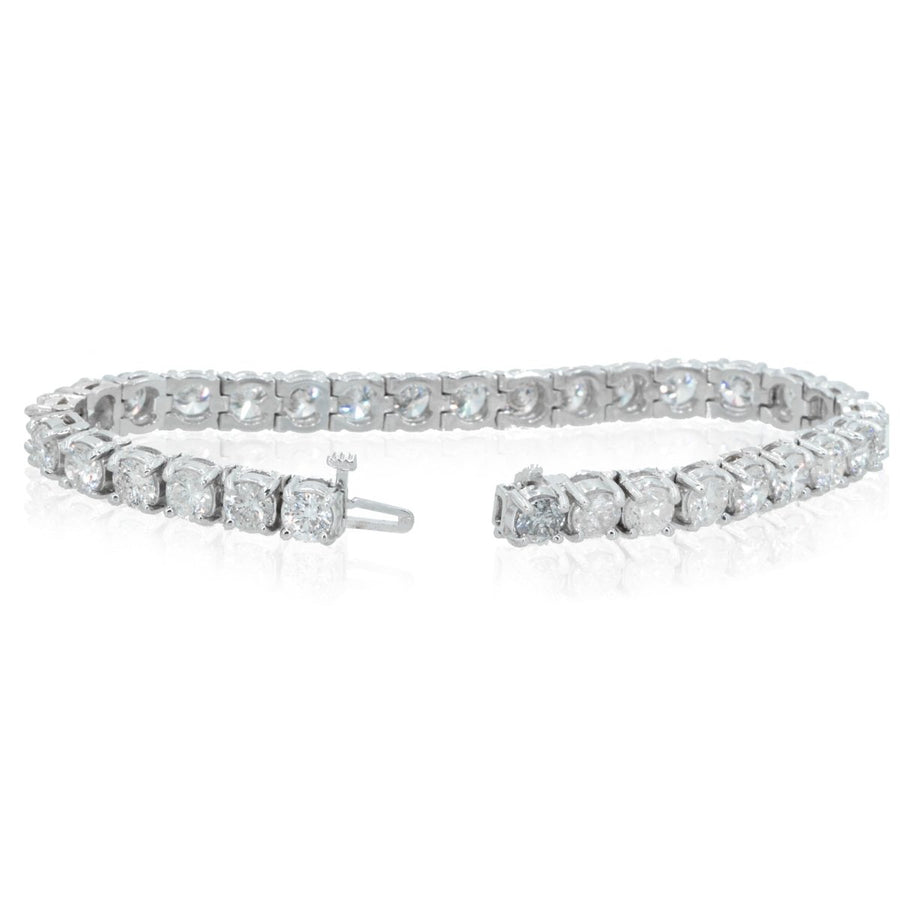 14KT White Gold 15.55CTW Brilliant Round Diamond Tennis Bracelet - Giorgio Conti Jewelers