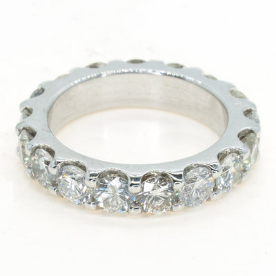 14KT White Gold 4.50ctw Shared Prong Diamond Eternity Ring - Giorgio Conti Jewelers