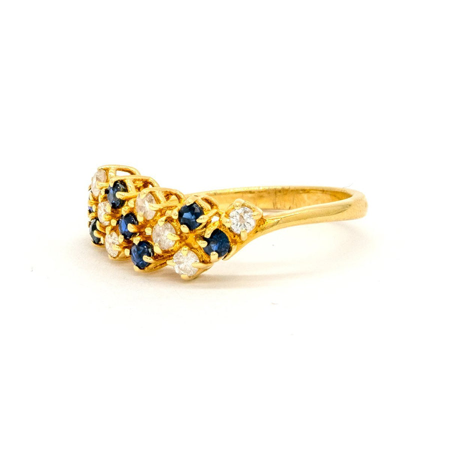 14KT Yellow Gold 0.37CTW Natural Sapphire and Diamond Band - Giorgio Conti Jewelers