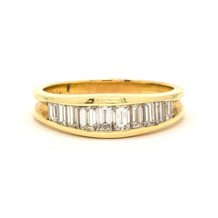 14KT Yellow Gold 1.59CTW Baguette Cut Channel Set Natural Diamond Cocktail Ring - Giorgio Conti Jewelers
