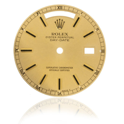 Rolex Day-Date President 36MM Champagne Authentic Factory Stick Watch Dial - Giorgio Conti Jewelers