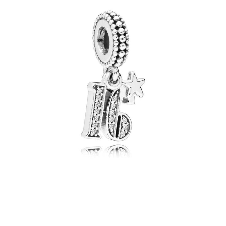 16 Years of Love, Clear CZ Silver Dangle with Clear Cubic Zirconia - Giorgio Conti Jewelers
