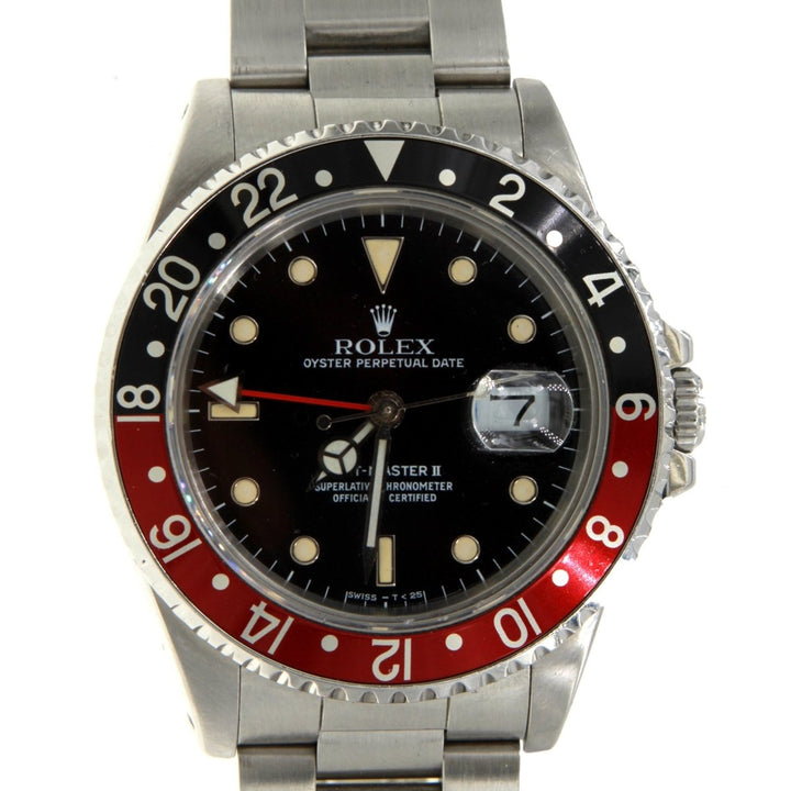 Rolex GMT-Master II 16700 Stainless Steel Black Patina Dial Factory 40MM Mens Watch - Giorgio Conti Jewelers