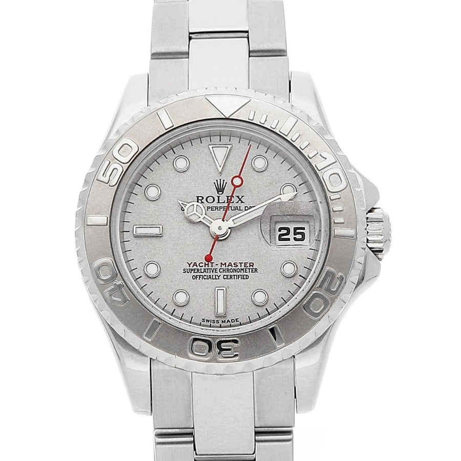 Rolex Yacht-Master 168622 Platinum 35MM Factory Womens Watch - Giorgio Conti Jewelers