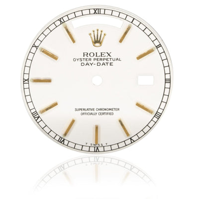 Rolex Day-Date President 36MM White Ivory Authentic Factory Stick Watch Dial - Giorgio Conti Jewelers