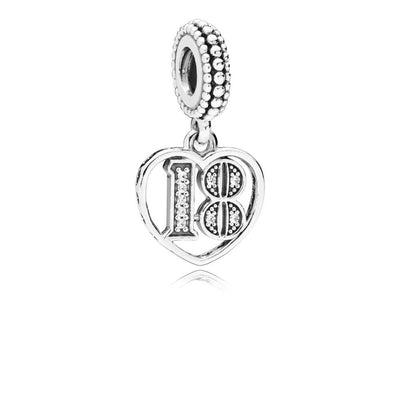 18 Years of Love, Clear CZ Silver Dangle with Clear Cubic Zirconia - Giorgio Conti Jewelers