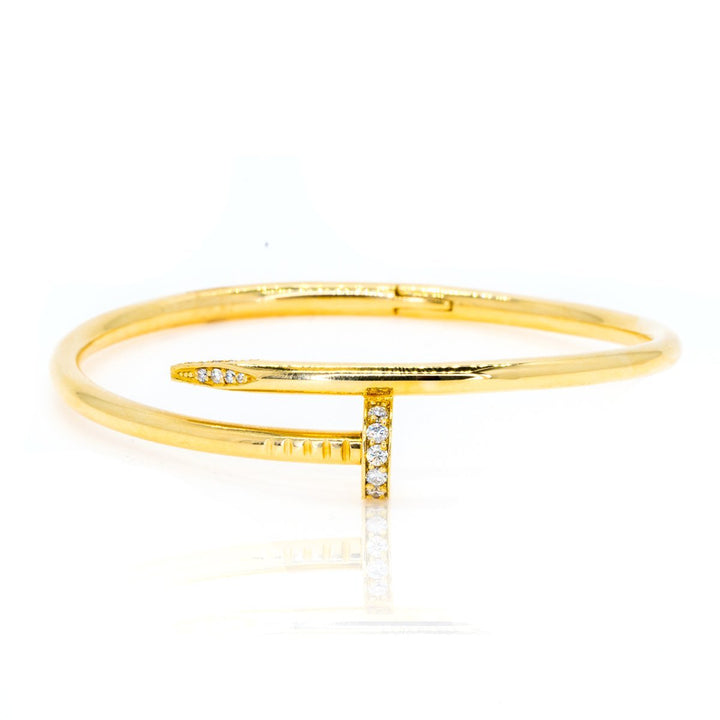 18kt Yellow Gold 0.60ctw Diamond Bangle Bracelet - Giorgio Conti Jewelers