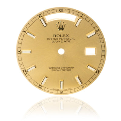 Rolex Day-Date President 36MM Champagne Authentic Factory Luminescence Stick Watch Dial - Giorgio Conti Jewelers