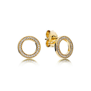 Stud Earrings in PANDORA Shine with 52 Micro Bead-Set Clear Cubic Zirconia - Giorgio Conti Jewelers