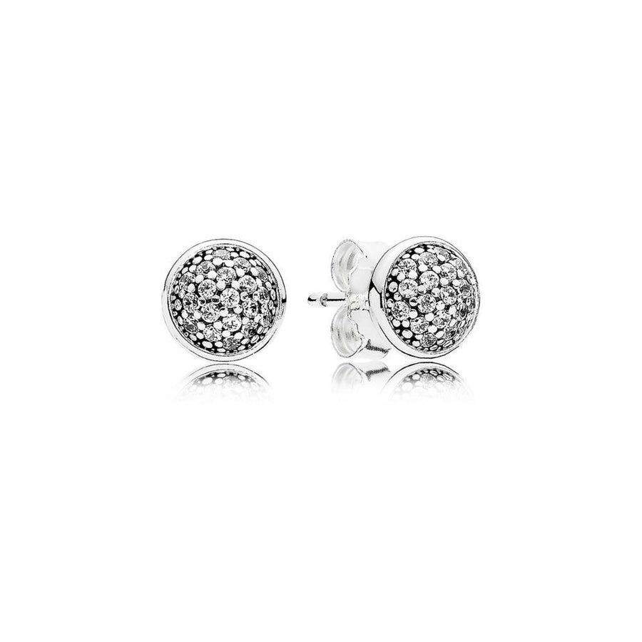 Stud Earrings Dazzling Droplets with Clear Cubic Zirconia - Giorgio Conti Jewelers