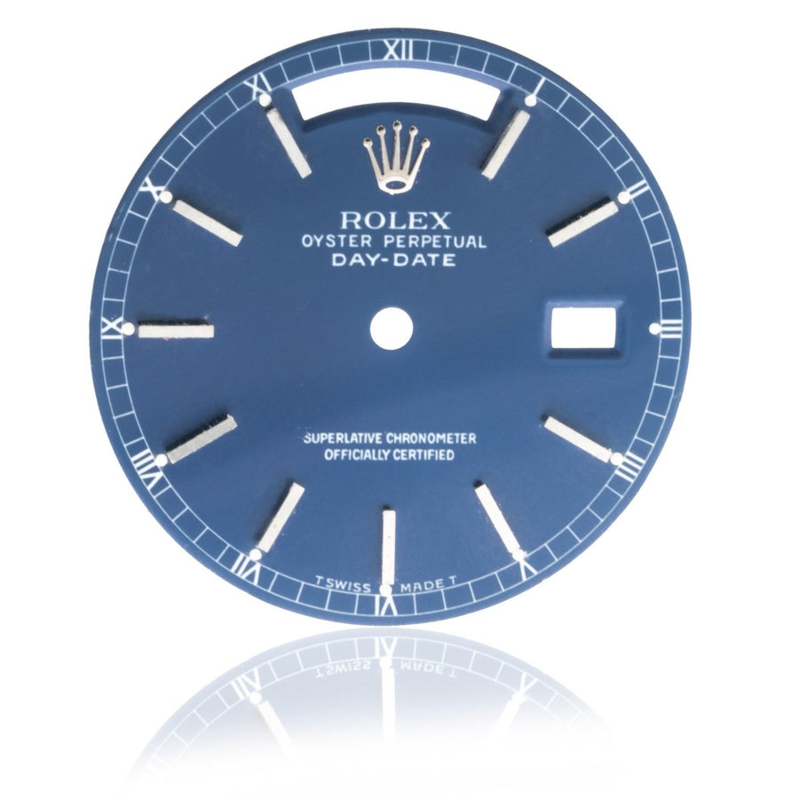 Rolex Day-Date President 36MM Stainless Steel Indigo Blue Watch Dial - Giorgio Conti Jewelers