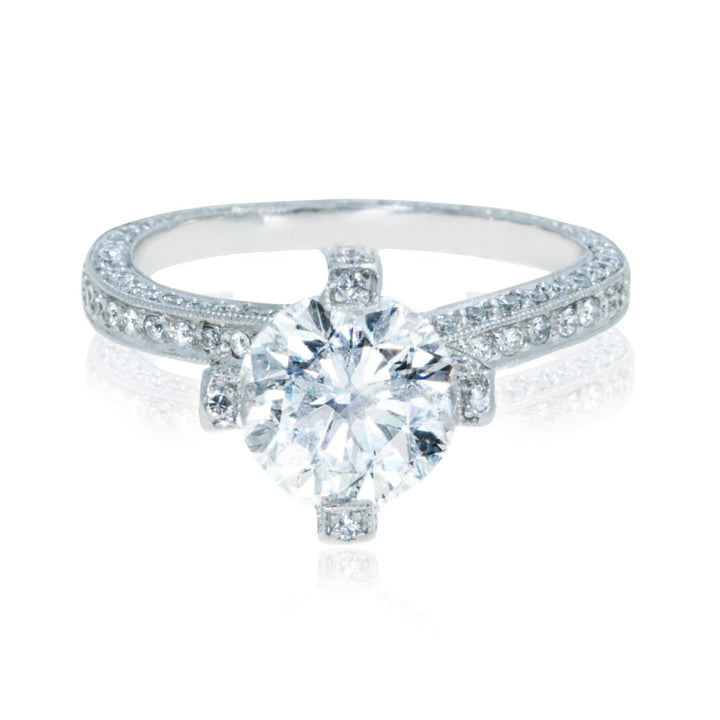 Platinum 3.50CTW Diamond Engagement Ring - Giorgio Conti Jewelers