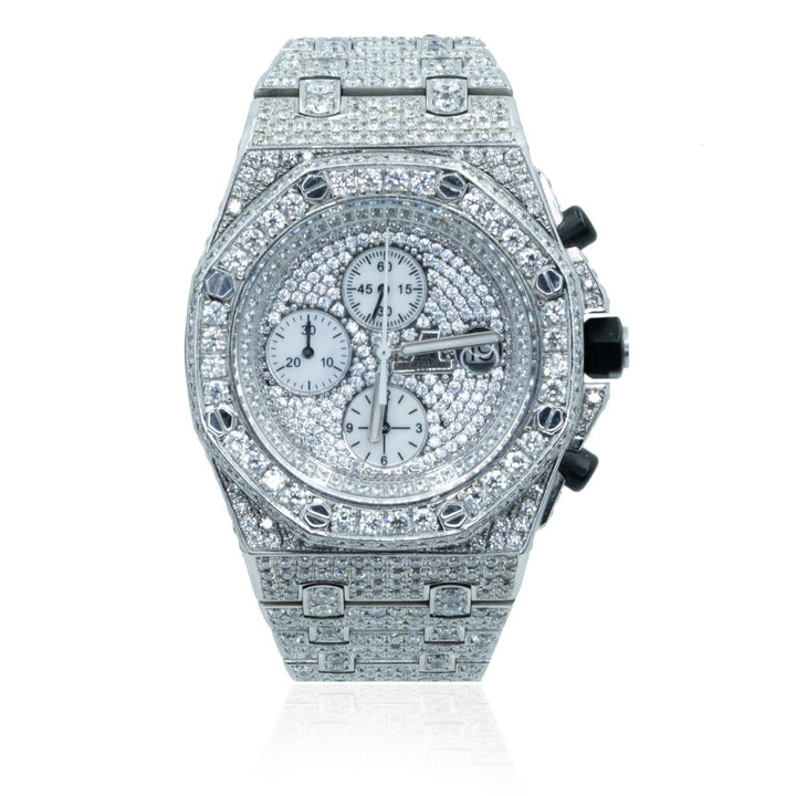 Audemar Piguet Royal Oak Off Shore Chronograph JPMAP-30 25CTW VS Diamond Mens Watch - Giorgio Conti Jewelers