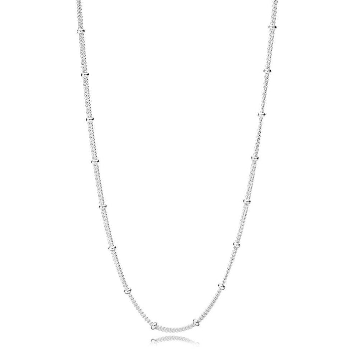 Beaded Beaded Necklace in Sterling Silver 70 Cm Adjustable To 65 Cm and 60 Cm - Giorgio Conti Jewelers