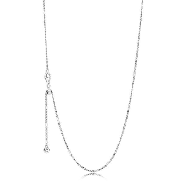 70 Cm Necklace in Sterling Silver with Sliding Clasp