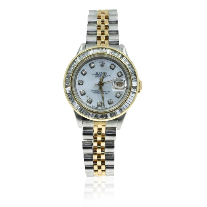 Rolex Datejust 69173 Two Toned 1.5CTW Diamond MOP Dial Womens Watch - Giorgio Conti Jewelers