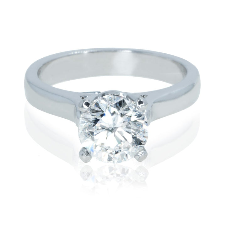 Platinum 2.02CTW Round Diamond Engagement Ring - Giorgio Conti Jewelers