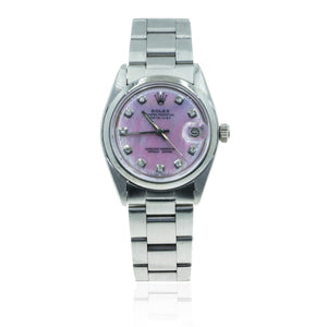 Rolex Datejust 6827 Midsize Pink MOP Dial 29MM Womens Watch - Giorgio Conti Jewelers
