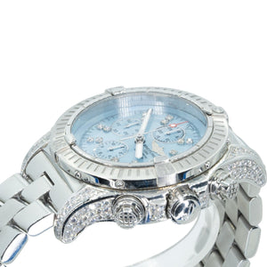 Breitling Bentley Super Avenger A13370 Chronograph 5.75CTW Diamond MOP Dial Mens Watch - Giorgio Conti Jewelers