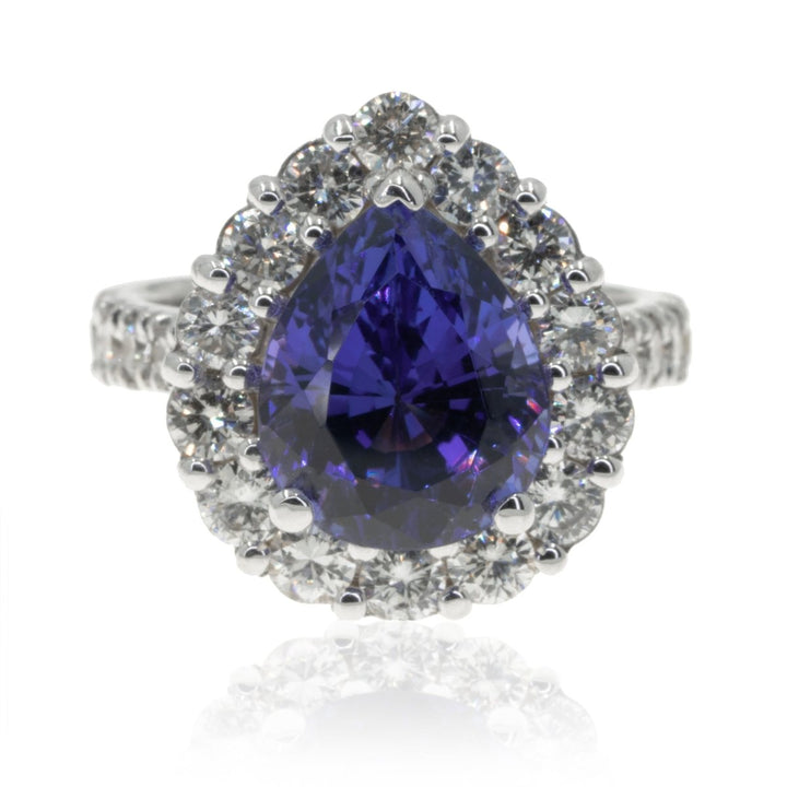 Ladies White Gold 7.65CTW Tanzanite Diamond Ring - Giorgio Conti Jewelers