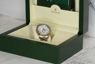 Rolex Yacht-Master II 116689 18KT White Gold White Dial 44MM Mens Watch - Giorgio Conti Jewelers