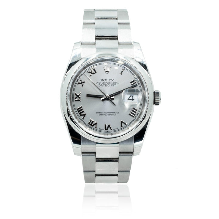 Rolex DateJust 116200 Rhodium Stainless Steel 36MM Mens Watch - Giorgio Conti Jewelers