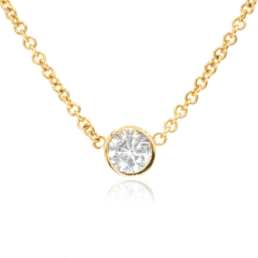 Copy of 14KT Yellow Gold 0.24CTW Eternity Necklace - Giorgio Conti Jewelers