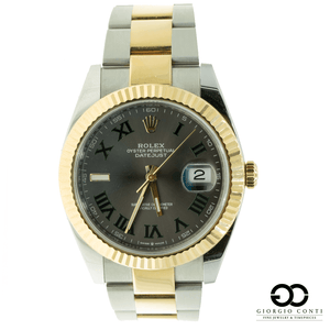 Rolex DateJust II 126333 two tone Gold/Steel Slate Dial Mens Watch - Giorgio Conti Jewelers