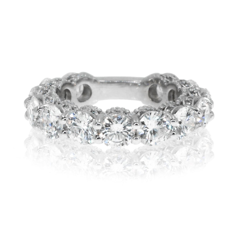 Eternity Band with big diamonds, and pave diamonds on side 5.81ctw - Giorgio Conti Jewelers