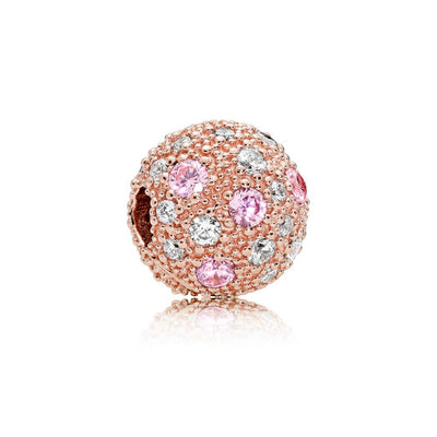 Clip in PANDORA Rose with Pink and Clear Cubic Zirconia - Giorgio Conti Jewelers