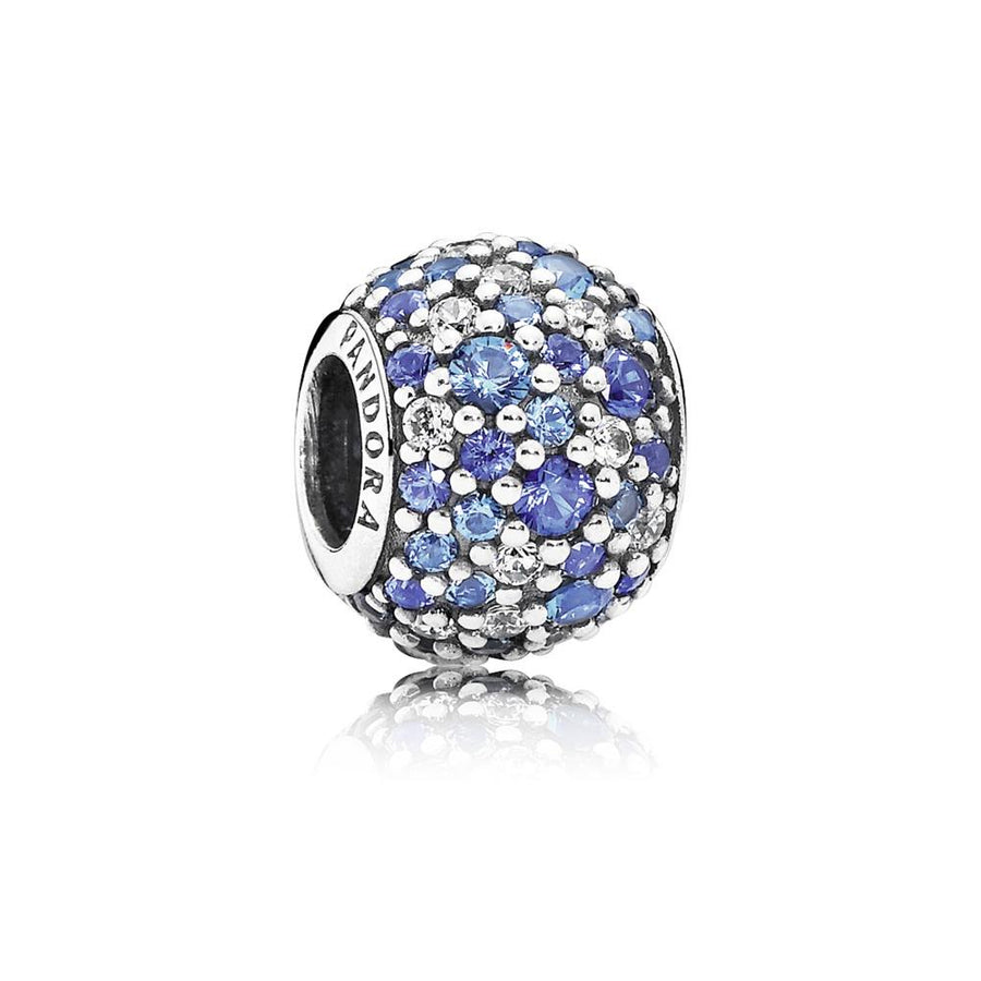 Sky Mosaic Pav?, Mixed Blue Crystals & Clear CZ - Giorgio Conti Jewelers