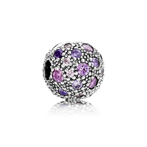 Pandora Fancy Purple Cosmic Stars Clip 791286CFPMX - Giorgio Conti Jewelers