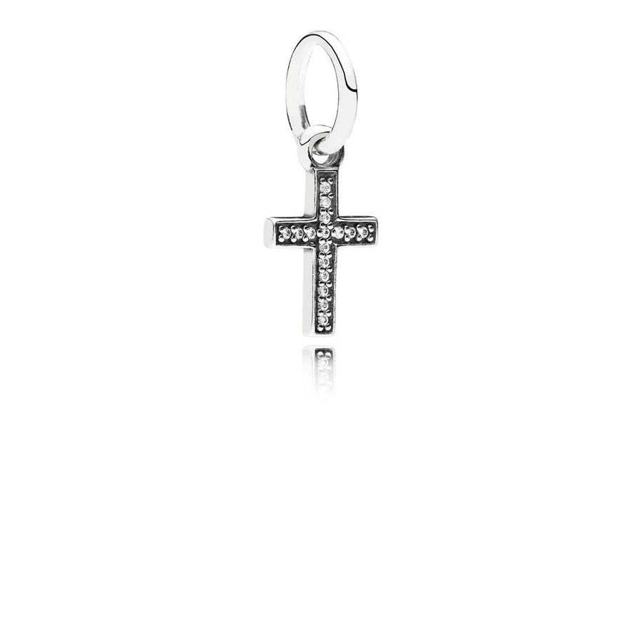 Symbol of Faith, Clear CZ - Giorgio Conti Jewelers