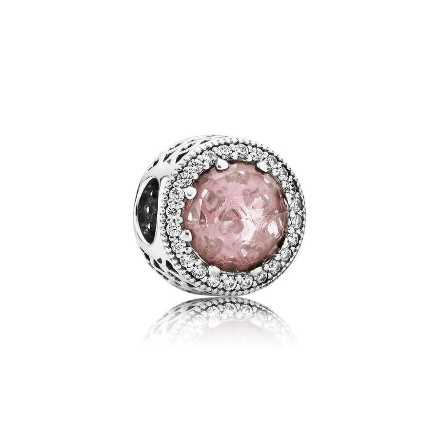 Radiant Hearts, Blush Pink Crystal & Clear CZ - Giorgio Conti Jewelers