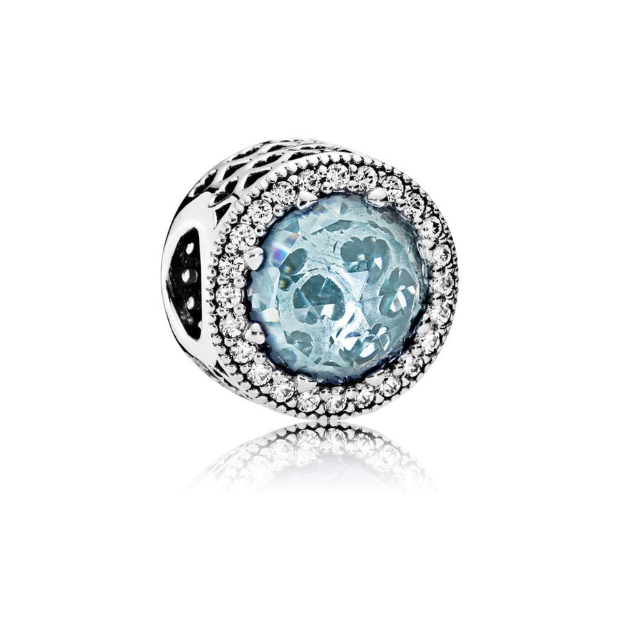Radiant Hearts, Glacier-Blue Crystals & Clear CZ - Giorgio Conti Jewelers