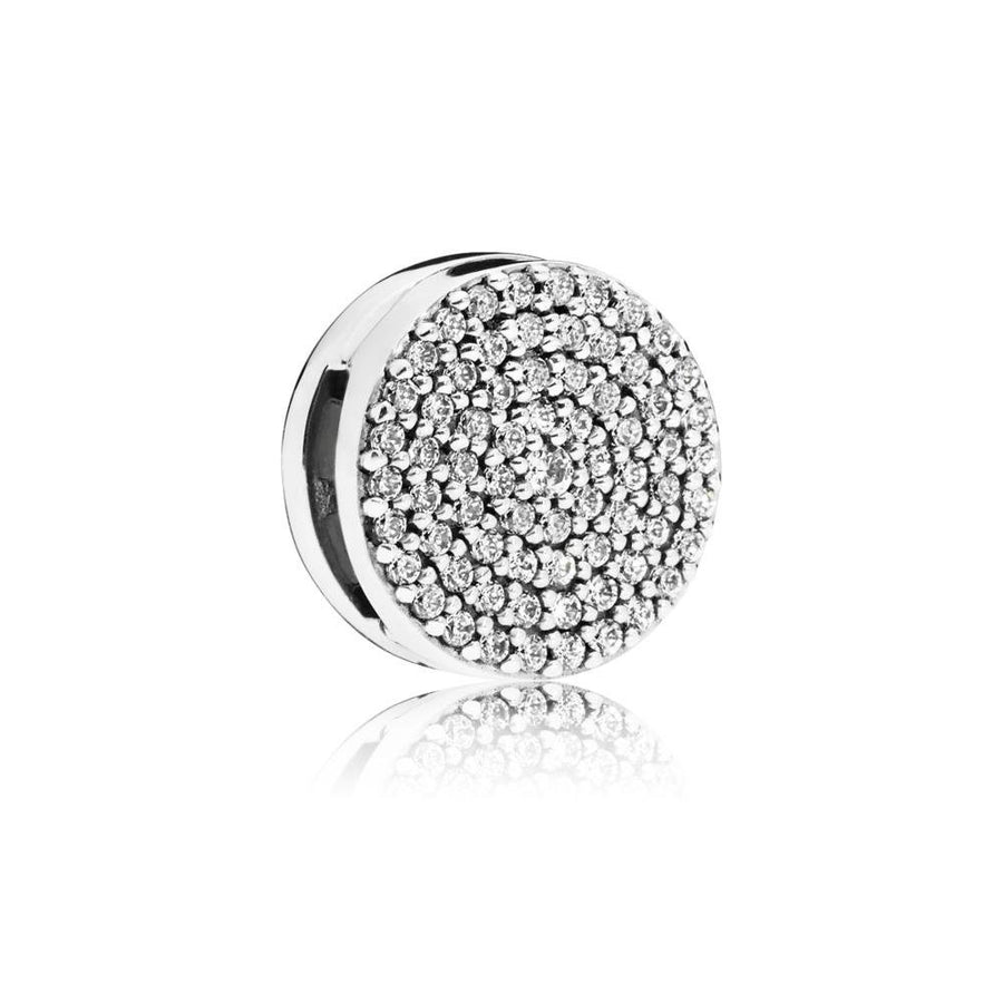 Pandora Reflexions Clip Charm in Sterling Silver with 69 Pav?-Set Clear Cubic Zirconia - Giorgio Conti Jewelers