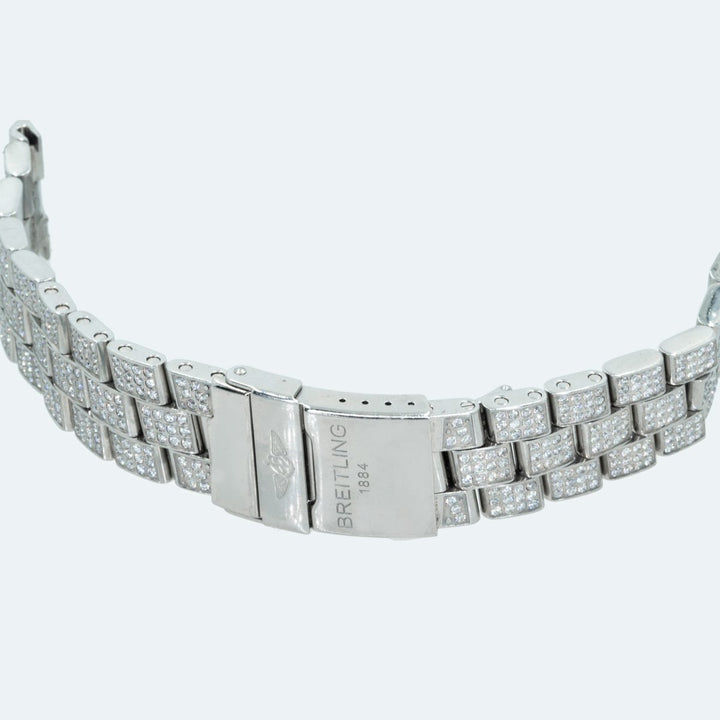 Breitling Super Avenger 10.00CTW Diamond Steel Factory Watch Bracelet - Giorgio Conti Jewelers