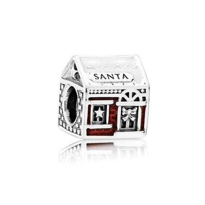Charm Santa'S Home with White and Translucent Classic Red Enamel - Giorgio Conti Jewelers