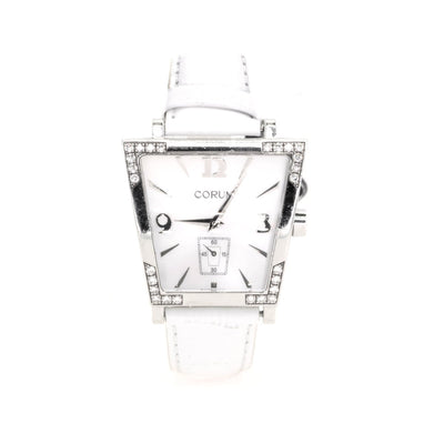 Corum Trapeze White With Factory Diamond Bezel MOP Dial 106-407-47-00 Watch - Giorgio Conti Jewelers