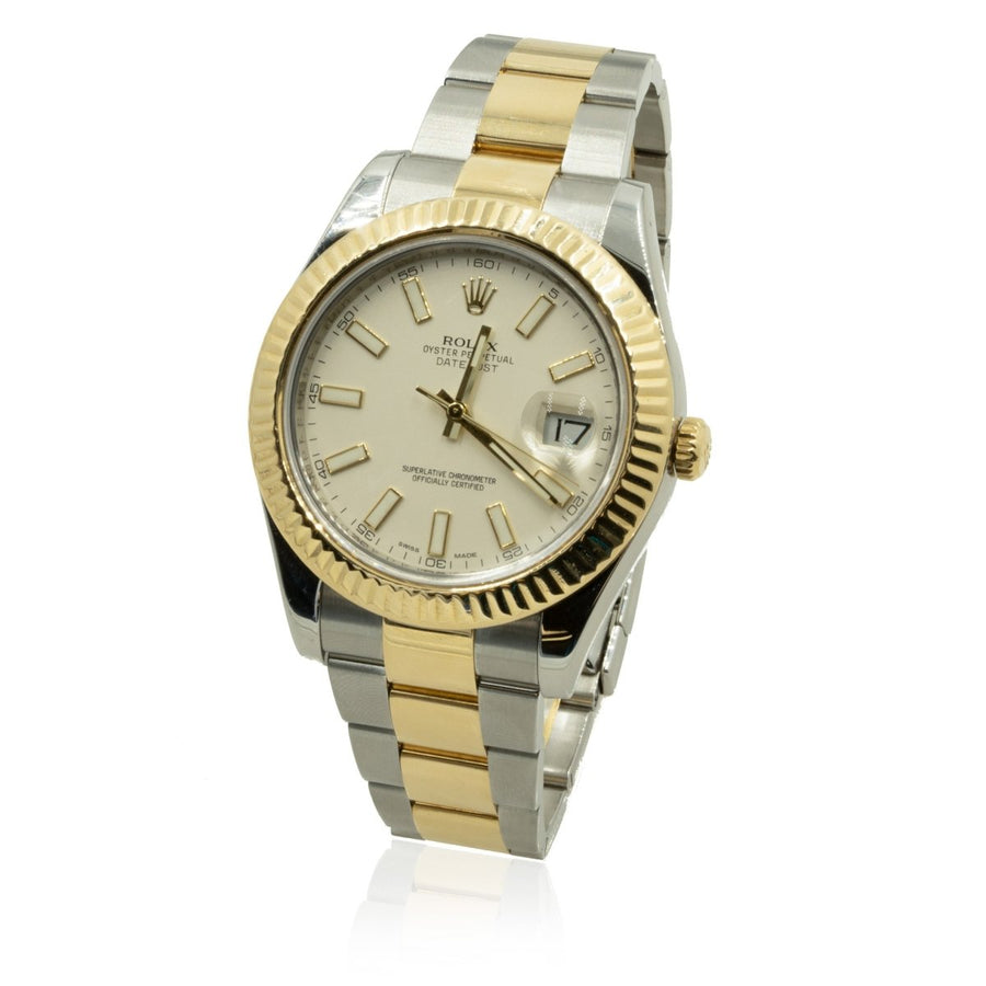 Rolex Datejust II 116333 Two-Tone Ivory Dial 41MM Factory Mens Watch - Giorgio Conti Jewelers