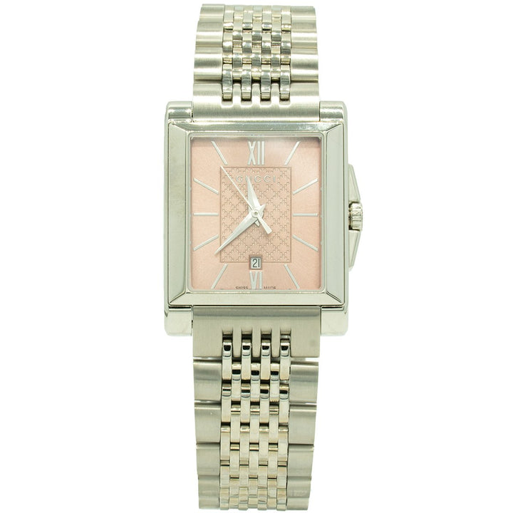 Gucci G-Timeless YA138502 26mm Stainless Steel Pink Dial Watch - Giorgio Conti Jewelers