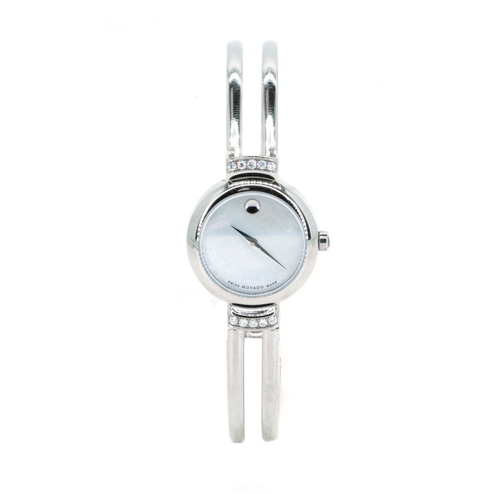Movado 0606353 Ladies Watch Stainless Steel Harmony Diamonds Mother of Pearl Dial - Giorgio Conti Jewelers