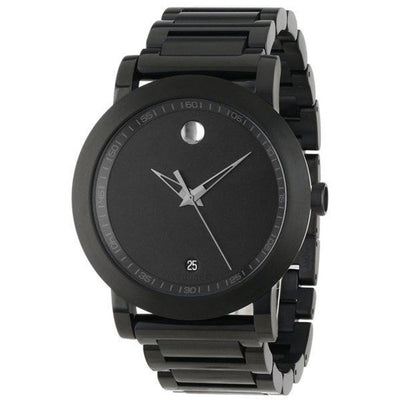 Movado Museum Sport Black PVD Stainless Steel Mens Watch - Giorgio Conti Jewelers